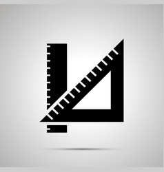 school ruler silhouette simple black icon vector image
