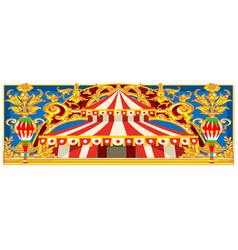 carnival banner with vintage circus vector image