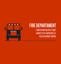 fire dept logos and banners vector image vector image
