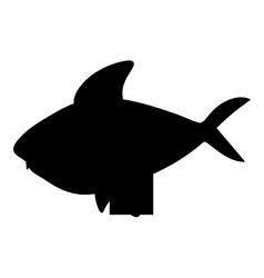 fish cartoon silhouette icon image vector image vector image