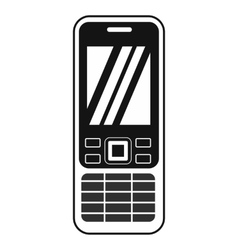 Mobile phone black simple icon vector image vector image