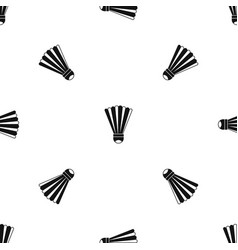 shuttlecock pattern seamless black vector image vector image