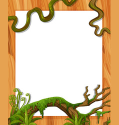 Border template with vine and leaves vector