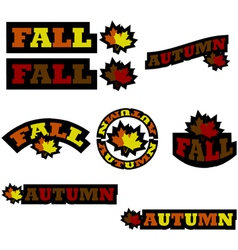 Fall icons vector image vector image