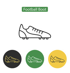 football boot line icon for web mobile and vector image