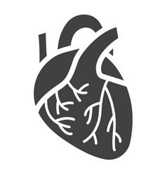 human heart glyph icon medicine and healthcare vector image vector image