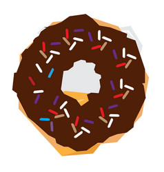 isolated geometric donut vector image