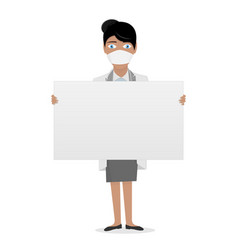 nurse in a white lab coat medical staff the vector image
