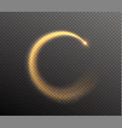 sparkle glitter round tail glow dust wave in the vector image vector image
