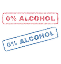 0 percent alcohol textile stamps vector