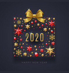 2020 new year greeting design vector