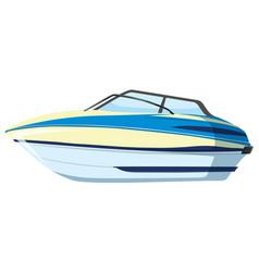 A speedboat on whitebackground vector