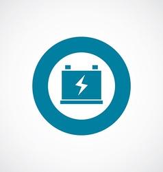 accumulator icon bold blue circle border vector image