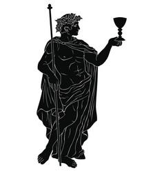 Ancient greek god dionysus vector