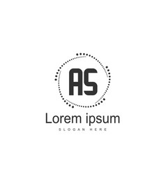 as letters logo design simple and creative black vector image
