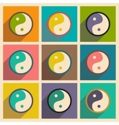 Assembly yin yang symbol of harmony vector