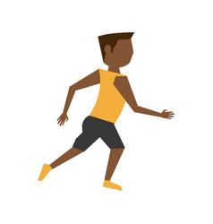 athlete sport avatar icon image vector image