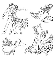 ballroom dance set vector image