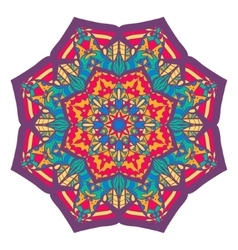 Beautiful colorful arabic geometric ornament round vector image