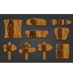 Big set of wooden boards 2 vector