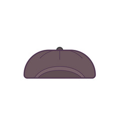black baseball cap line art vector image