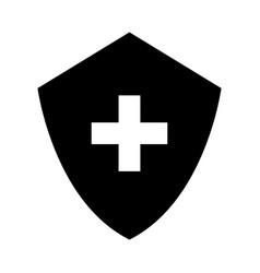 Black icon medical shield cartoon vector
