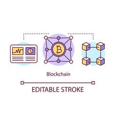 Blockchain concept icon transaction recording vector