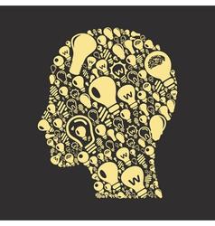 Bulb a head vector image