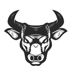 Bull head icon isolated on white background vector