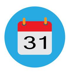 calendar icon flat calendar icon vector image