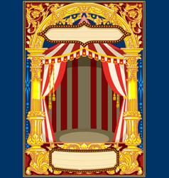 Carnival circus template vector
