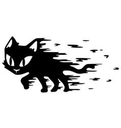 Cat black motion blur vector