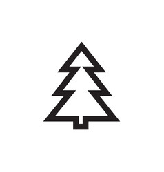 christmas tree icon in flat style icon vector image