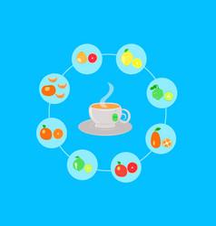 Citrus set for tea vector