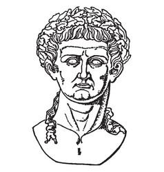 Claudius tiberius vintage vector
