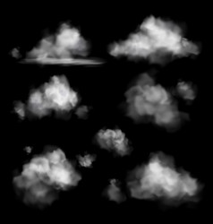 cloud realistic sky white clouds in air vector image
