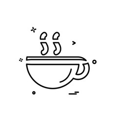 coffee icon design vector image