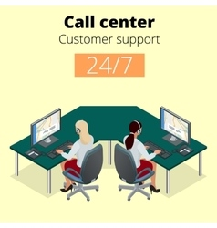 concept call center technical support vector image