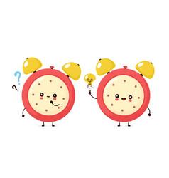 Cute smiling happy alarm time clock vector