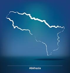 Doodle Map of Abkhazia vector