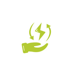 Energy ray eco friendly fill style icon vector