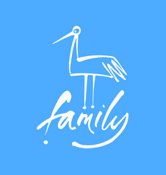 Family bird template vector