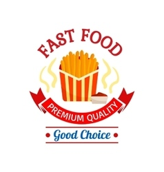 Fast food icon design French fries vector