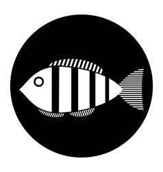 Fish button vector image