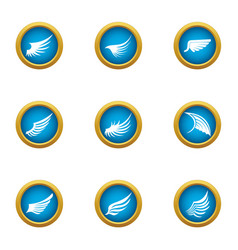 Flank icons set flat style vector