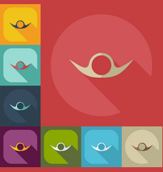 Flat modern design with shadow icons mustache vector