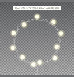 glowing garland in the shape of circle vector image