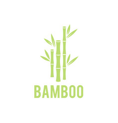 Green bamboo stems bamboo tree icon on white vector