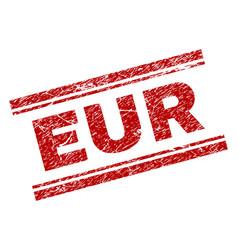 Grunge textured eur stamp seal vector