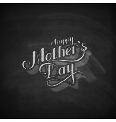 Handwritten Happy Mothers Day retro label vector